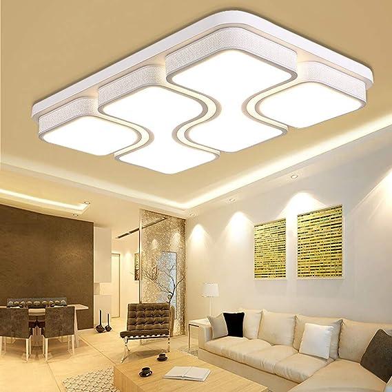 MYHOO 78W LED Blanco Cálido Luz de techo Diseño de moda moderna plafón,Lámpara de Bajo Consumo Techo para Dormitorio,Cocina,oficina,Lámpara de sala de