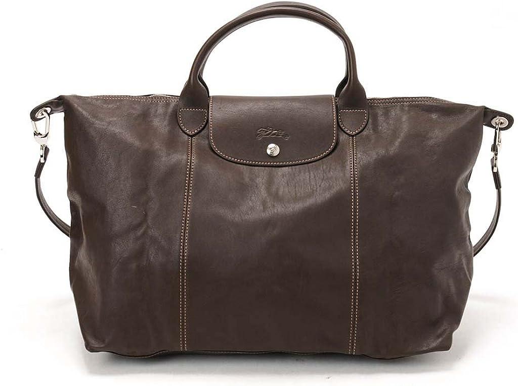 Amazon.com: Longchamp Le Pliage Cuir Large Taupe: Clothing