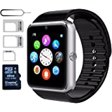 eMARS gt821iwa Smart Watch Gt08 Bluetooth With SD Card and Sim Card Slot for Android Samsung S5/S6 Note 4/5 HTC/Sony/LG and iPhone 5/5S/6/6 Plus Smartphones - 16 GB - Sliver