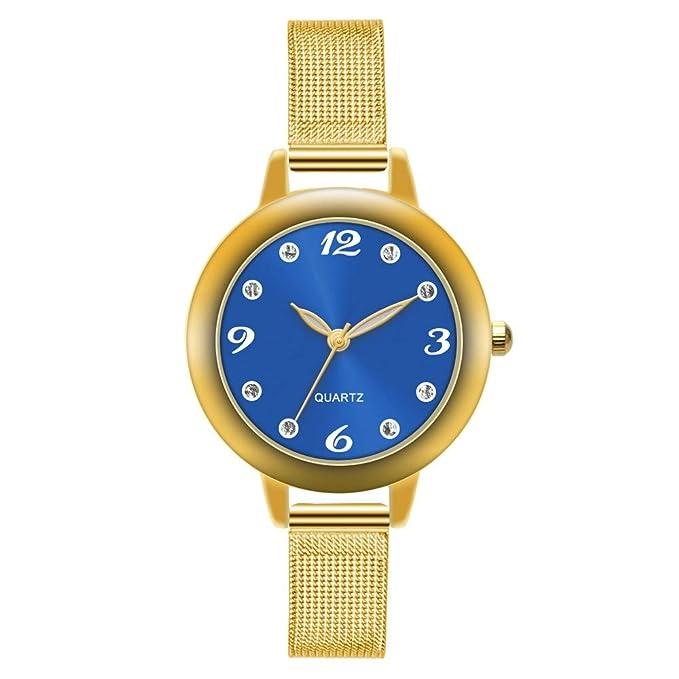 Relojes para Mujer, Reloj de Pulsera de Cuarzo Aleación Ultrafino de Acero, Accesorios Watches