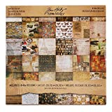 Tim Holtz Idea-ology Collage Mini Paper Stash, 36-Sheet, Double-Sided Cardstock, 8x8-Inch, Multicolored, TH93054