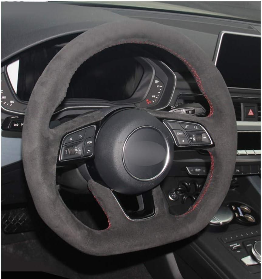 pour Audi A3 B9 F5 A4 ZHHRHC Housse de Volant de Voiture en Cuir Cousue /à la Main 8V A1 8X Sportback Q2 2016-2019 Avant A5