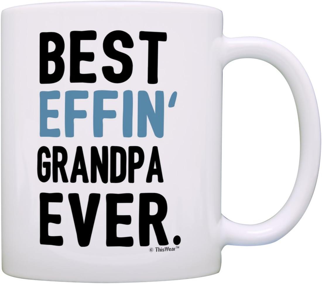 Best Grandpa Ever Travel Mug Gift Appreciation Fathers Day Birthday Coffee Cup