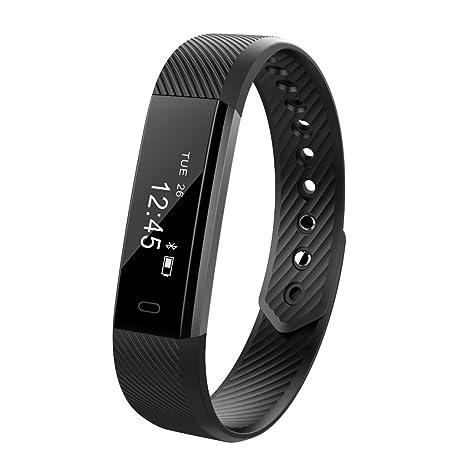 3f603166f8be YFish Reloj de Actividad Inteligente Pulsera Deportiva Despertador Fitness  Monitor Smartwatches con Pantalla Táctil Bluetooth Conecta