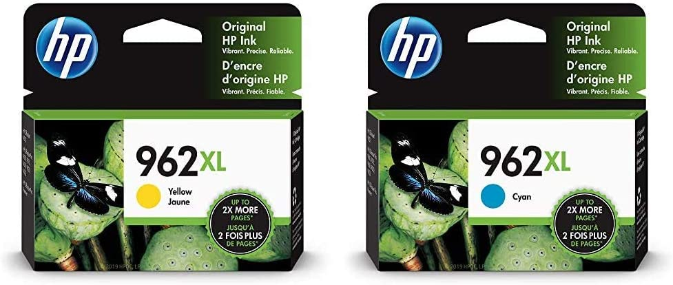 HP 962XL | Ink Cartridge | Yellow | 3JA02AN & 962XL | Ink Cartridge | Cyan | 3JA00AN