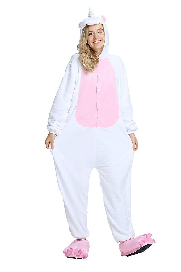oamore Unicornio Pijama Cartoon Animal Novedad Navidad Pijama Cosplay Unisex-Adulto Ropa de Dormir Disfraces de Fiesta (Pink-Wing, XL): Amazon.es: Ropa y ...