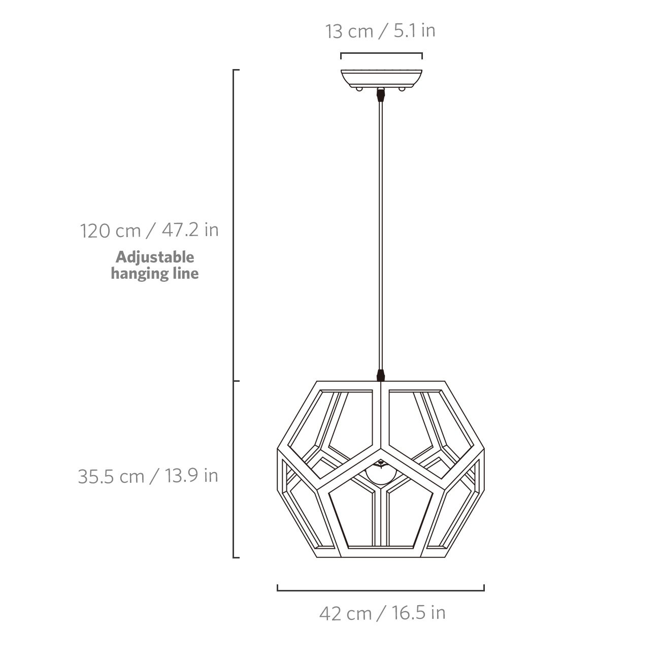Tomons Hollow Design Wood Ceiling Pendant Lamp, Geometry Shape, E26/E27 Bulb Base, 60 Watts Incandescent Bulb, 12 Watts LED Bulb For Dining Room, Living Room, Bedroom, Study Room - PL1002 by tomons (Image #2)