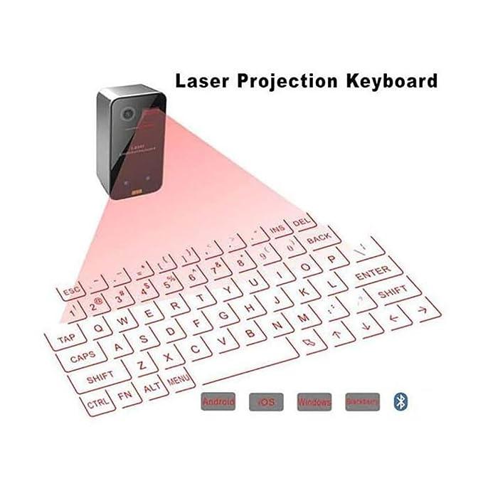 SHANGXIAN Láser Proyección Teclado Inalámbrico Bluetooth Virtual Teclado Y Ratón, Negro: Amazon.es: Hogar