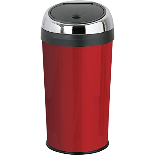 Premier Housewares Red Push Top Bin 30 Litre