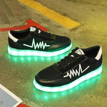 WUANNI Zapatos LED Unisex Hombre Mujer Zapatillas Deportivas ...