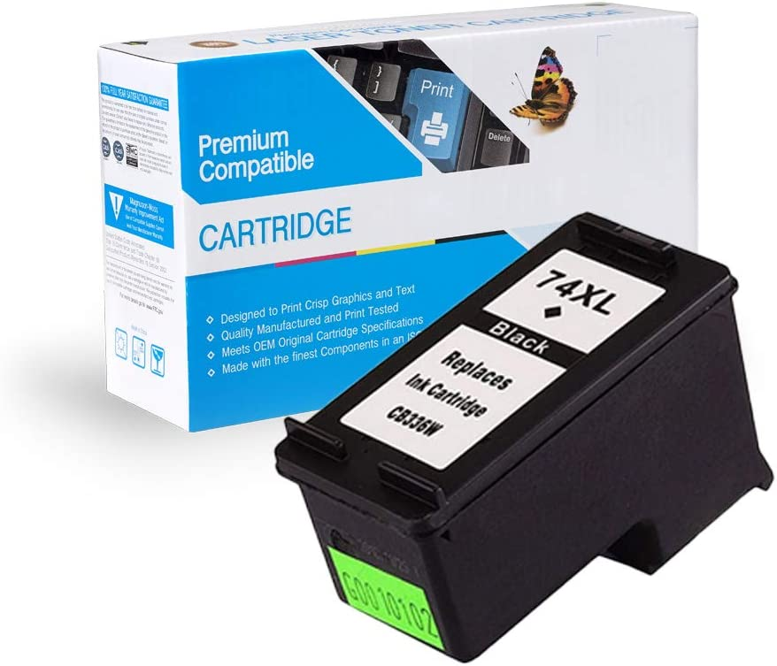 74XL Black, 4 Pack MS Imaging Supply Compatible Remanufactured Inkjet Cartridge Replacement for HP CB336WN