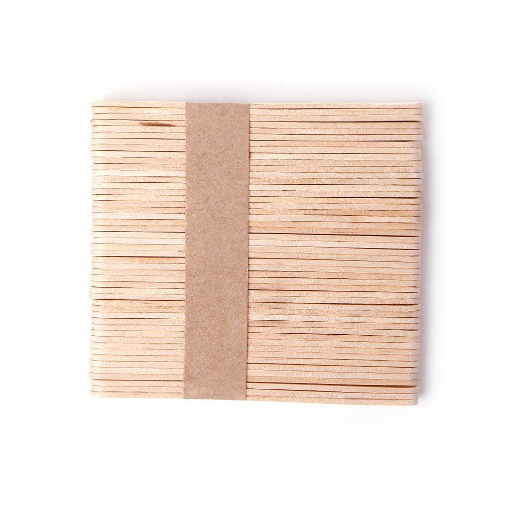 Qupida 50PCS Wooden Waxing Wax Spatula Tongue Depressor Disposable Bamboo Sticks Kit Skin Care Sketch for Mangal Pretty