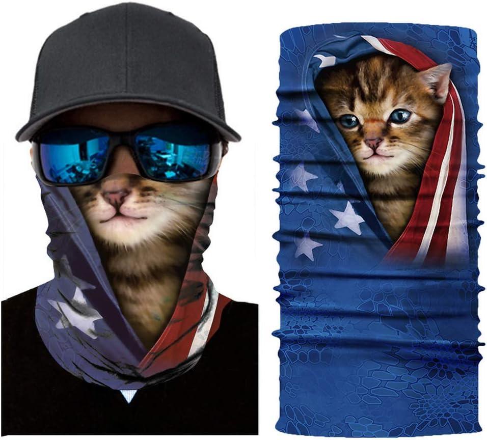 m/áscara para la Cara UV para Entrenamiento Correr Yoga JK Home dise/ño de Estampado de Animales Bandana para Hombres y Mujeres