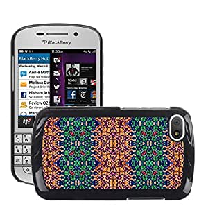 Etui Housse Coque de Protection Cover Rigide pour // M00152447 Fondo geométrico abstracto del modelo // BlackBerry Q10