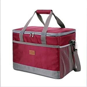 YWYW Food Delivery Cooler Bag Waterproof Shopping Case 31 42 28cm Buffet Server Warming Tray Lunch Box Warmer and Saucepan Carrying Case Hot and Cold