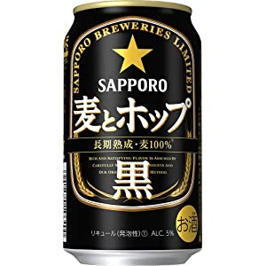 【新ジャンル】サッポロ 麦とホップ <黒> [ 350ml×24本 ]