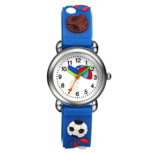 Watches 2019 New Children Boys Cartoon Football Personality Quartz Wrist Watches Students Fashion Leather Strap Watches