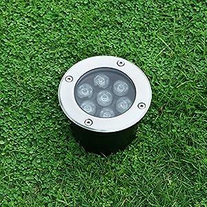 Landscape Lights Pathway Lights 7W 12V-24V In Ground Well Lights LED Landscape Lighting Low voltage Lights for Driveway, Deck, Garden, Outdoor Lighting (1 Pack, Warm White)