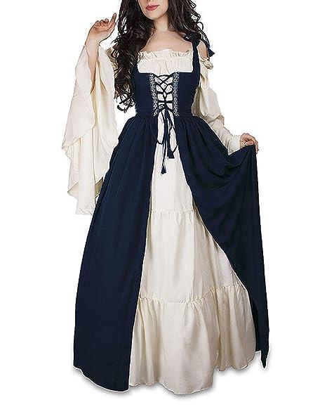 Primavera Y Otoño Medieval Renacimiento Disfraz De Reina