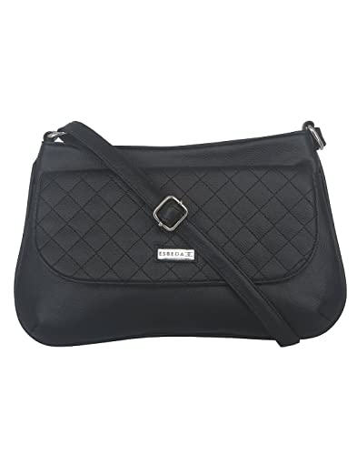 Image Unavailable. Image not available for. Colour  ESBEDA Black color  Quilted Slingbag for womens a3948150aa