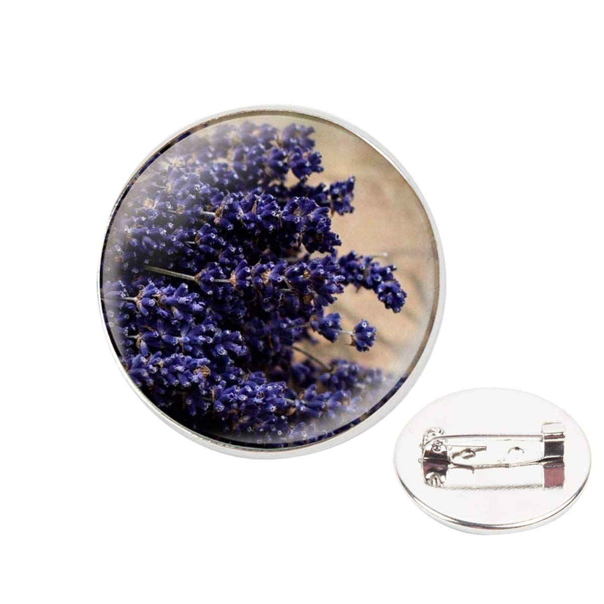Pinback Buttons Badges Pins Small Wild Lavender Flower Lapel Pin Brooch Clip Trendy Accessory Jacket T-Shirt Bag Hat Shoe