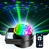 Mini Dj Disco Ball Party Stage Lights Led 7Colors Effect Projector Equipment for Stage Lighting With Remote Control…