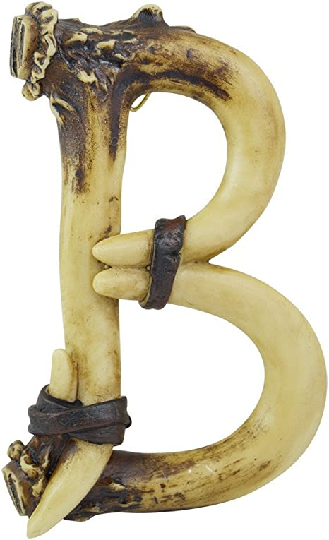 Amazon Com Pine Ridge Personalized Name Art 6 Antler Letter B Home Decor 3d Western Decorative Hanging Wall Letters Decorations Deer Antler Monogram Hunting Sign Design Unique Gift Ideas Home