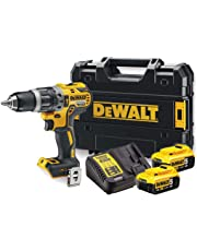 DeWalt DCD796P2-QW Taladro percutor sin escobillas XR 18V 13 mm con 2 baterías 70Nm Li-Ion 5, 100 W, 220 V, Multicolor