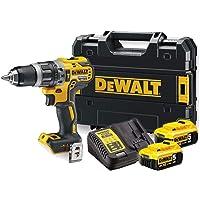 DeWalt DCD796P2-QW Trapano Avvitatore, 2 Velocità, 18 V, Motore Brushless, Mandrino Autoserrante in Metallo 1.5-13 mm, 0-550/2000 Giri/min, Giallo/Nero
