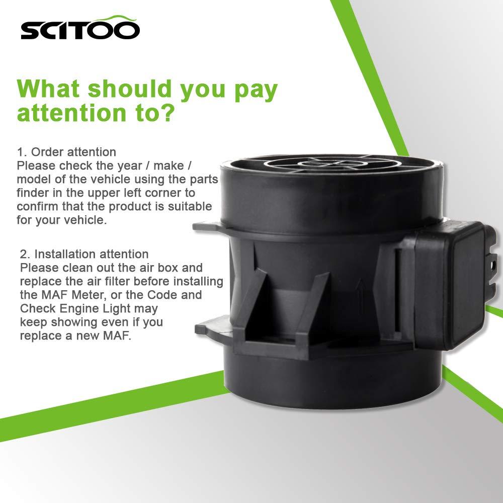 SCITOO Mass Air Flow Sensor Meter MAF 13627566984 fit BMW 325 325Ci 2003-2006 X3 2.5L//3.0L Engine 2004-2006 Z4 2.5L//3.0L Model 2003-2005