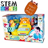 Gili Toddlers Play Grocery Store, Educational Toys for Preschool, Cash Register Pretend Playset with Scanner and Card Reader, Play Money & Play Food| Best Christmas Gift for Kids Age 3, 4, 5
