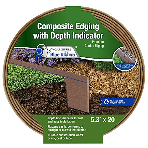 Gardener's Blue Ribbon 903009BR Composite Lawn Edging (Sale Metal For Garden Edging)