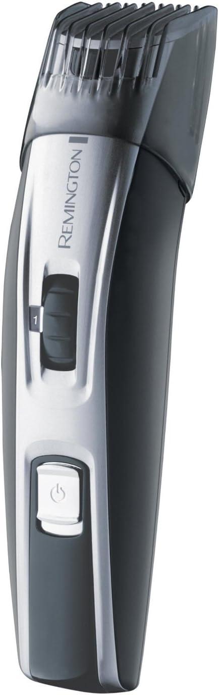 Remington Contour - Cortapelos para barba inalámbrico, cuchillas microserradas con revestimiento de cerámica avanzada, 2 peines