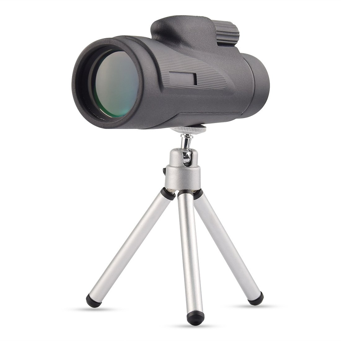 Twod 12X50 Monocular High Definition Spotting Scope Portable With Tripod, Carrying Bag for Birds Watching, Hunting, Camping, Wildlife, Black