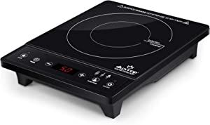 Duxtop Portable Induction Cooktop, Countertop Burner, Induction Burner with Timer and Sensor Touch, 1800W 8500ST E210C2