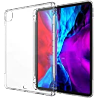Clear Soft TPU Transparent Shockproof Cover with Pencil Holder Case for New iPad Pro 12.9-inch A2229/A2069/A2232/A2233 2020 4th Generation (12.9 2020)