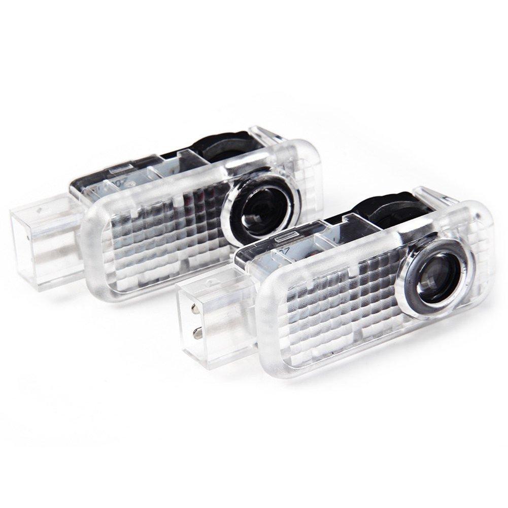 Inlink 2 piezas de LED proyector puerta logotipo de la sombra de luz Mini