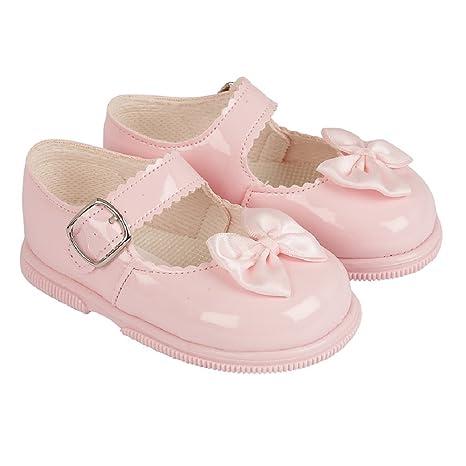 119434195 Baypods primer Walking zapatos. hardsole patente bebé niña zapatos en marfil