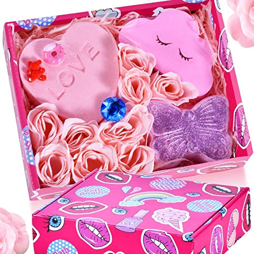 Bath Bomb Gift Set - Handmade All Natural Essential Oil and Organic Bath Bomb, Perfect for Bubble & Spa Bath, Best Gift Idea for Christmas, Valentine