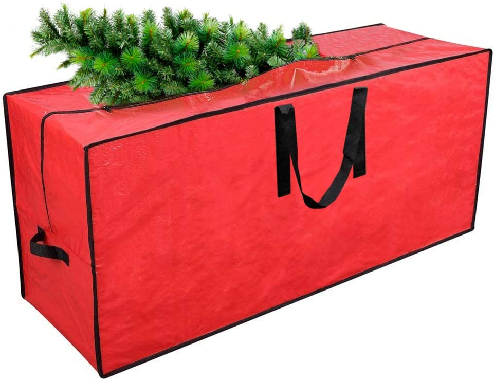 """Tall Disassembled Holiday Tree I 65/"""" x 15/"""" x 30/"""" Tree Storage Container Primode Xmas Tree Storage Bag Fits Up to 9 Ft Protective Zippered Artificial Tree Bag with Handles Red"""