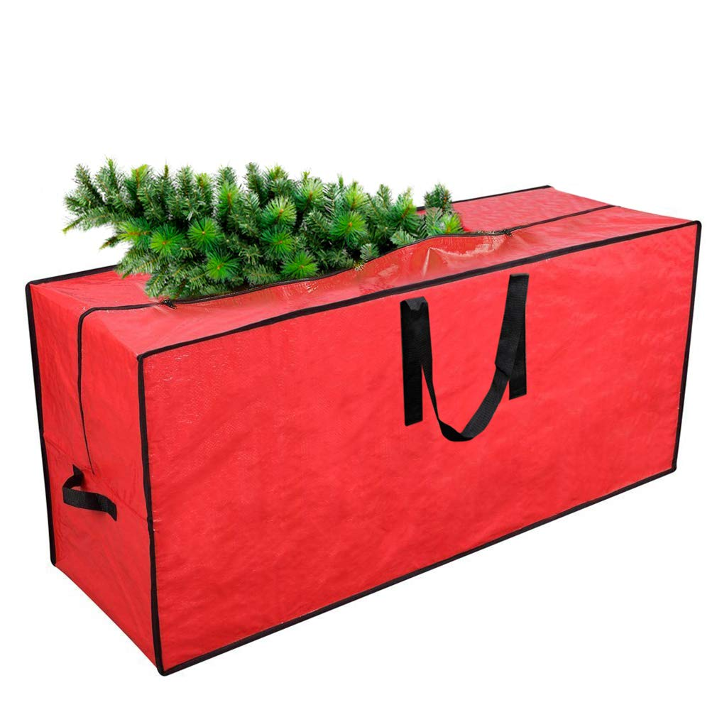 "Primode Artificial Xmas Tree Storage Bag with Handles | 45"" x 15"" x 20"" Holiday Tree Storage Case 