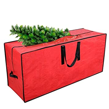 Artificial Christmas Tree Box.Primode Artificial Xmas Tree Storage Bag With Handles 45 X 15 X 20 Holiday Tree Storage Case Protective Zippered Xmas Tree Bag Fits Up To 7
