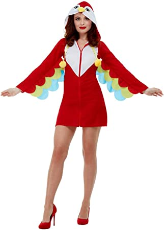 Smiffys 47773M - Disfraz de loro para mujer, talla M, color rojo ...