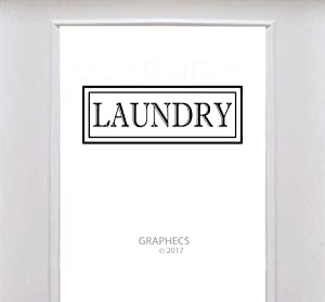 Laundry Vinyl Decal Kitchen Door Frame Sticker Glass Door Luxurious Border Decor