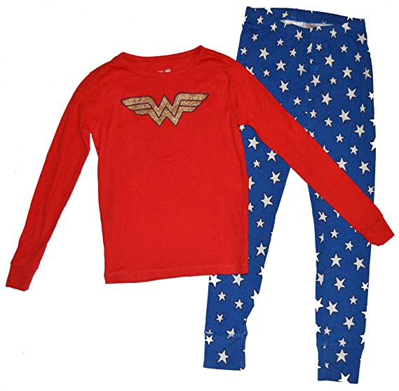 0827d0f90 Amazon.com  Gap Kids Girls Wonder Woman Logo Red Pajamas 12  Clothing