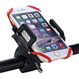Bike Mount, Arespark Universal Cell Phone Bicycle Handlebar & Motorcycle Holder Cradle Mount for iPhone 6 6(+) 6S 6S plus 5S 5C 4S, Samsung S7 S6 Note 4,Nexus 5, Black