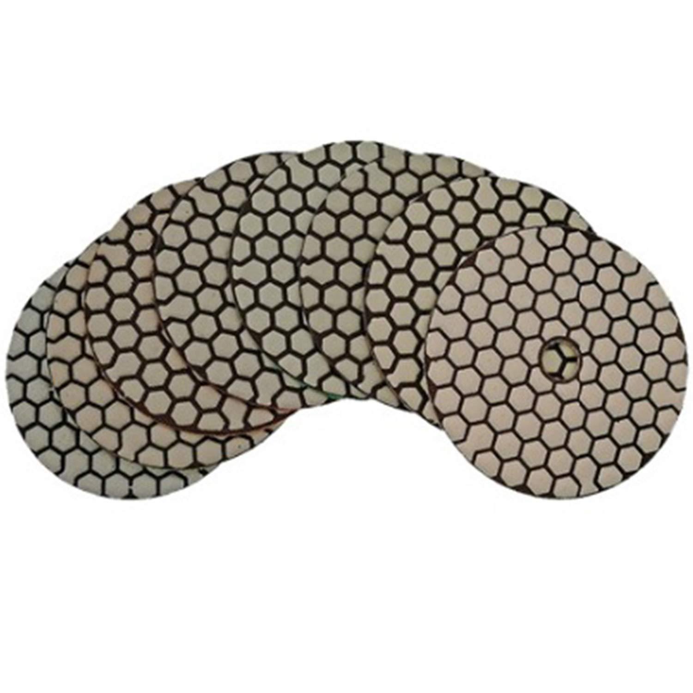 Cikuso 7 Piezas//Juego 4 Pulgadas Almohadillas de Pulido de Diamante Seco Di/ámetro 100Mm Disco de Lijado Disco Pulidor de M/ármol y Granito para Pulir Disco de Pulido
