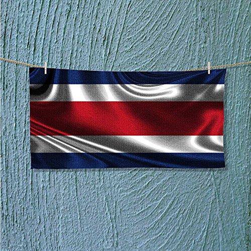swimmer towel Flag of COSTA RICA Moisture Wicking L23.6 x W7.9 INCH]()