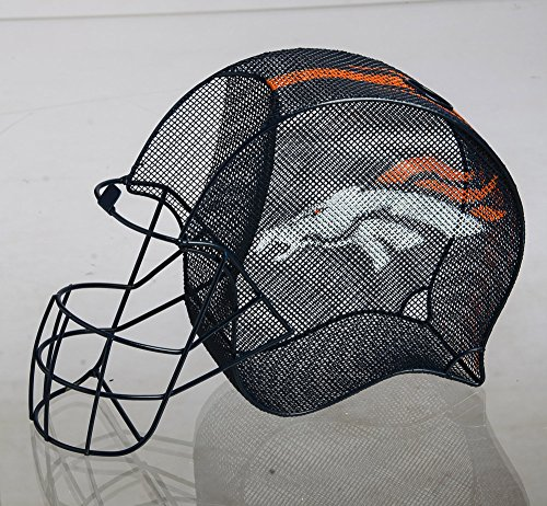 Team Sports America NFL Denver Broncos Football Helmet Bottle and Cork Cage Holder, Small, Multicolored by Team Sports America