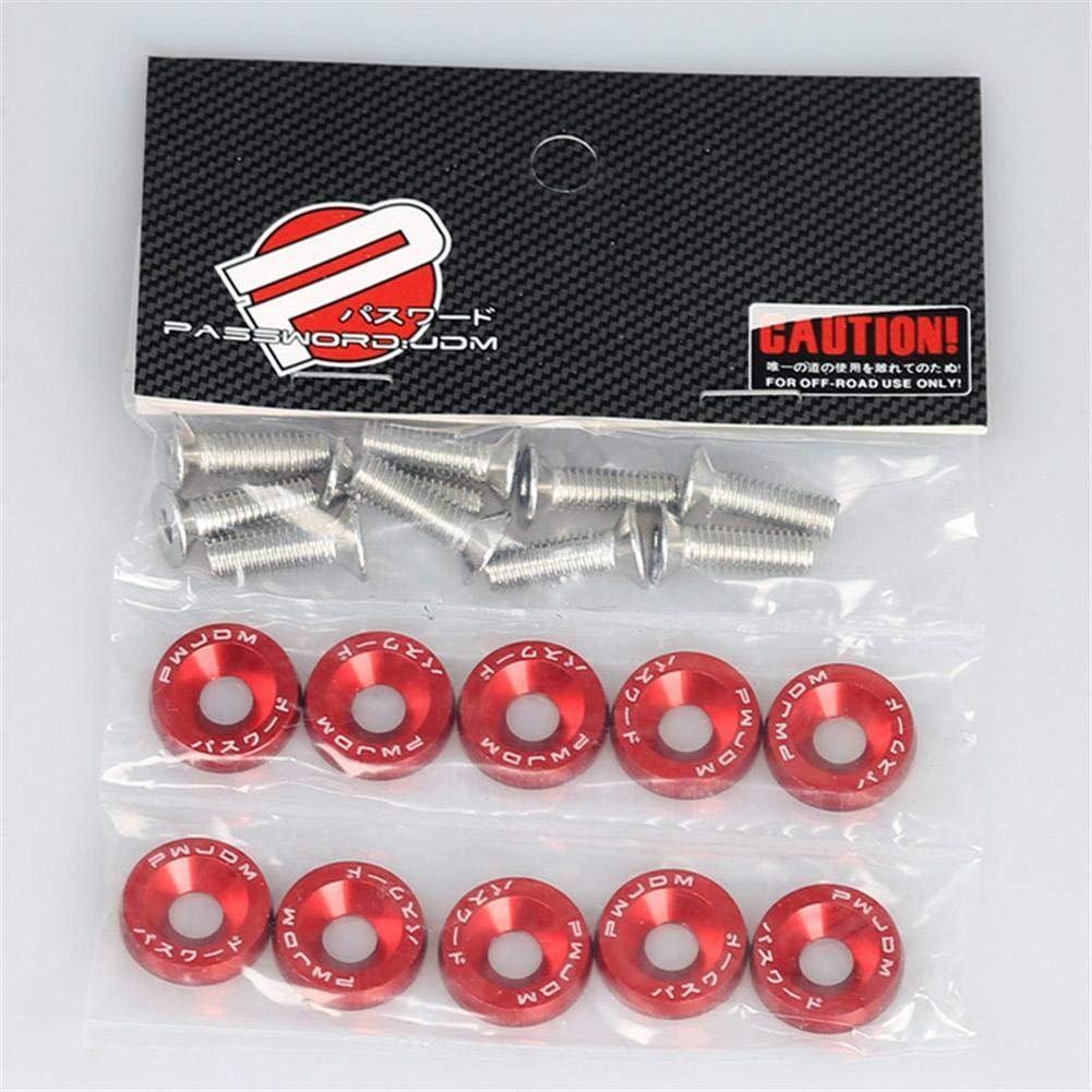 Fender Kennzeichen Schraubendekoration lennonsi JDM Pad Schrauben Auto Ersatz M6 Schrauben Akku Pads Schrauben und Muttern